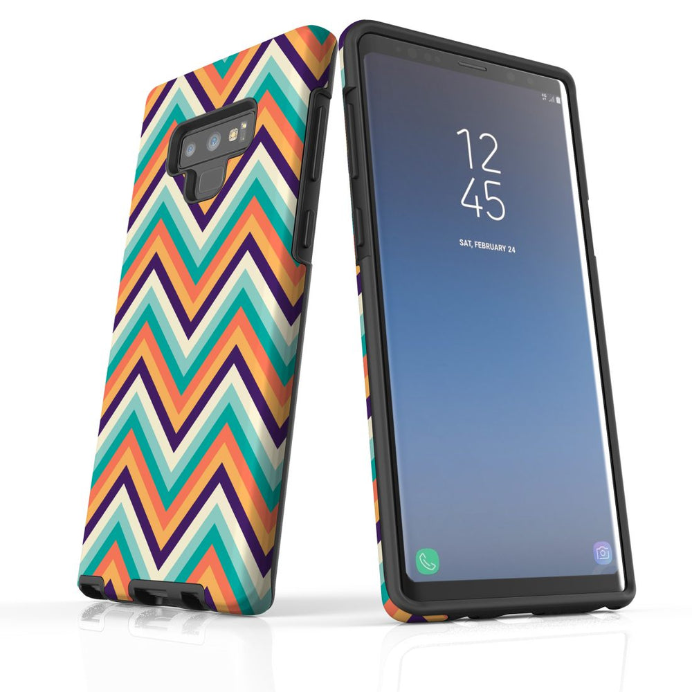 For Samsung Galaxy Note 9 Protective Case, Zigzag Rainbow Pattern