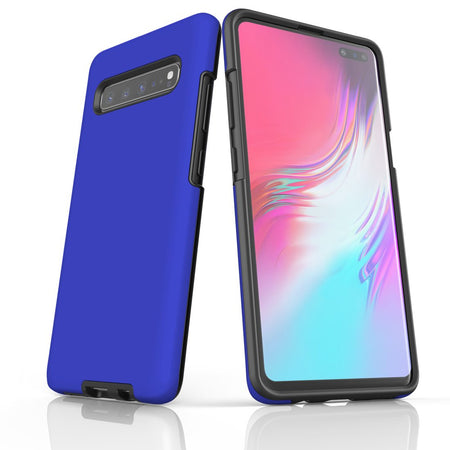Samsung Galaxy S20 Ultra/S20+/S20,S10 5G/S10+/S10/S10e, S9+/S9 Case, Armour Tough Protective Cover, Blue