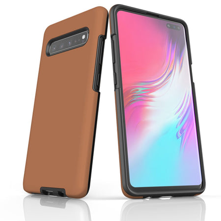Samsung Galaxy S20 Ultra/S20+/S20,S10 5G/S10+/S10/S10e, S9+/S9 Case, Armour Tough Protective Cover, Brown
