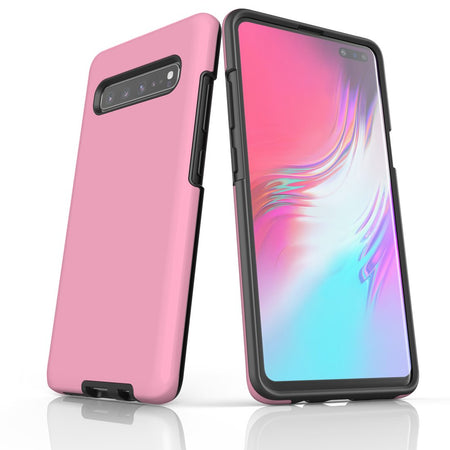 Samsung Galaxy S20 Ultra/S20+/S20,S10 5G/S10+/S10/S10e, S9+/S9 Case, Armour Tough Protective Cover, Pink