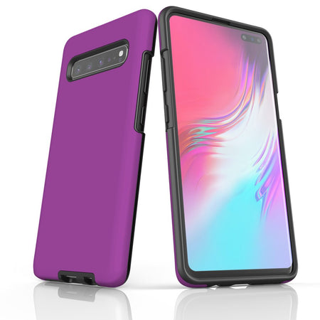 Samsung Galaxy S20 Ultra/S20+/S20,S10 5G/S10+/S10/S10e, S9+/S9 Case, Armour Tough Protective Cover, Purple