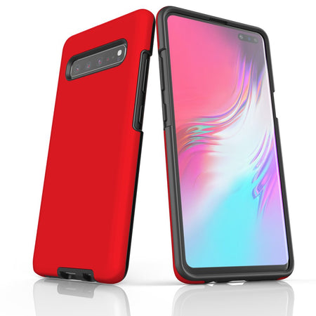 Samsung Galaxy S20 Ultra/S20+/S20,S10 5G/S10+/S10/S10e, S9+/S9 Case, Armour Tough Protective Cover, Red