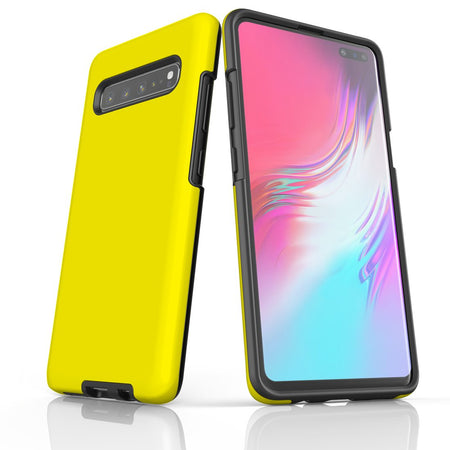 Samsung Galaxy S20 Ultra/S20+/S20,S10 5G/S10+/S10/S10e, S9+/S9 Case, Armour Tough Protective Cover, Yellow