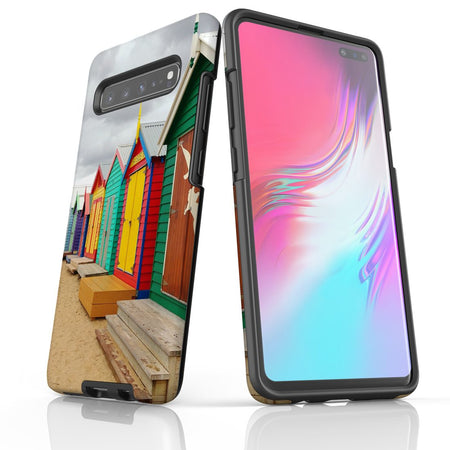 Samsung Galaxy S20 Ultra/S20+/S20,S10 5G/S10+/S10/S10e Case Protective Cover, Brighton Bathing Boxes