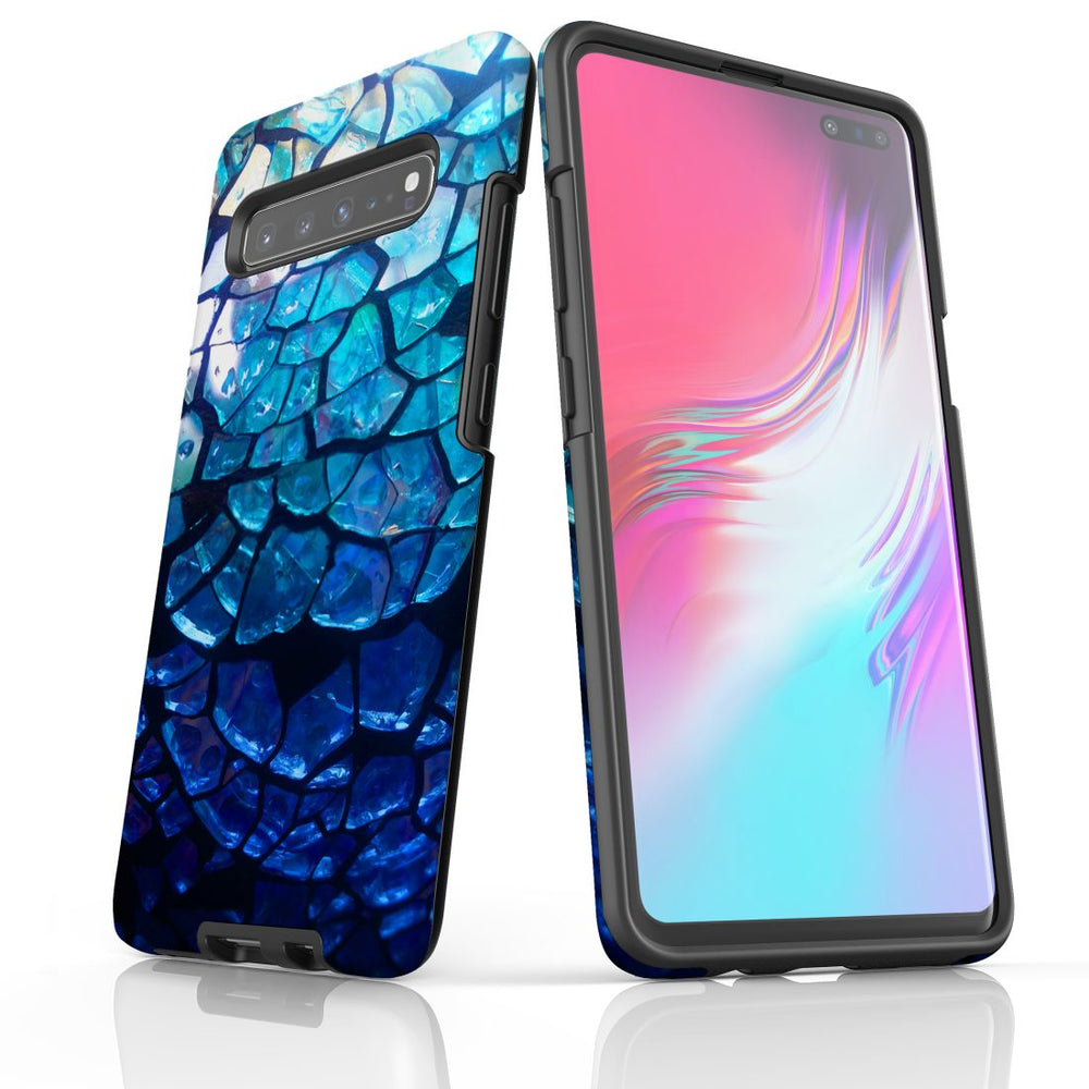 Samsung Galaxy S20 Ultra/S20+/S20,S10 5G/S10+/S10/S10e Case Protective Cover, Blue Mirror
