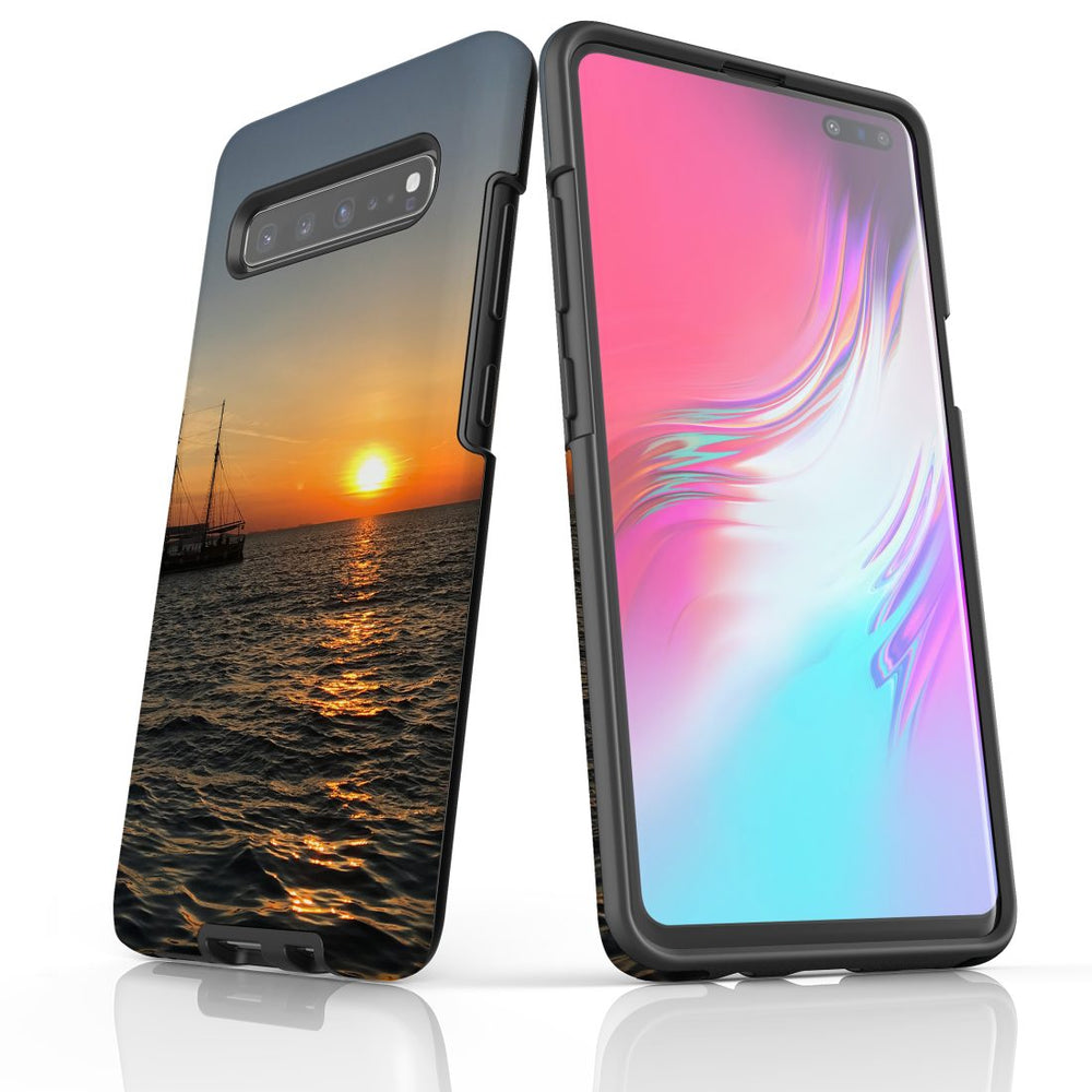 Samsung Galaxy S10 5G Case Protective Cover, Sailing Sunset