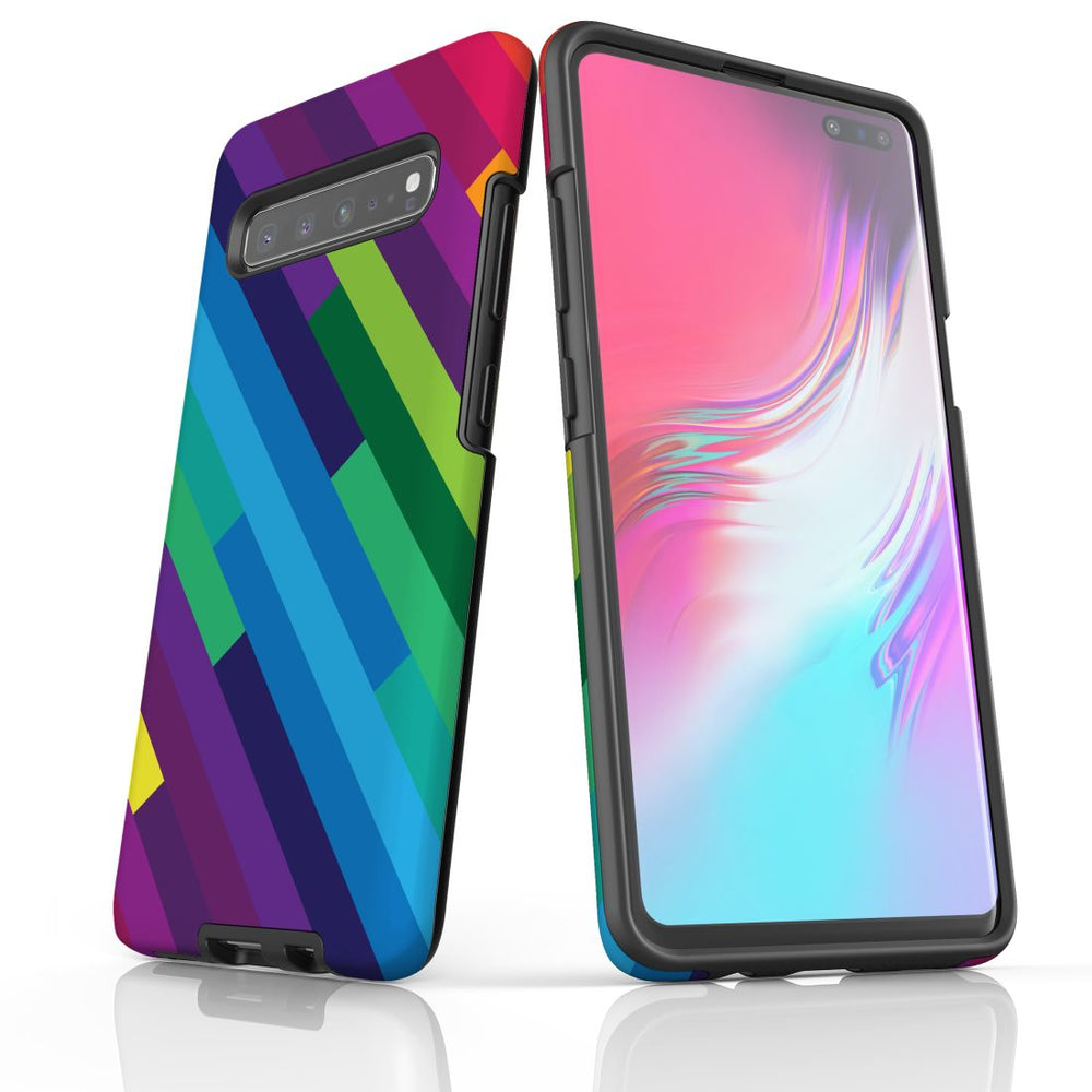 For Samsung Galaxy S10 5G Protective Case, Rainbow Pattern
