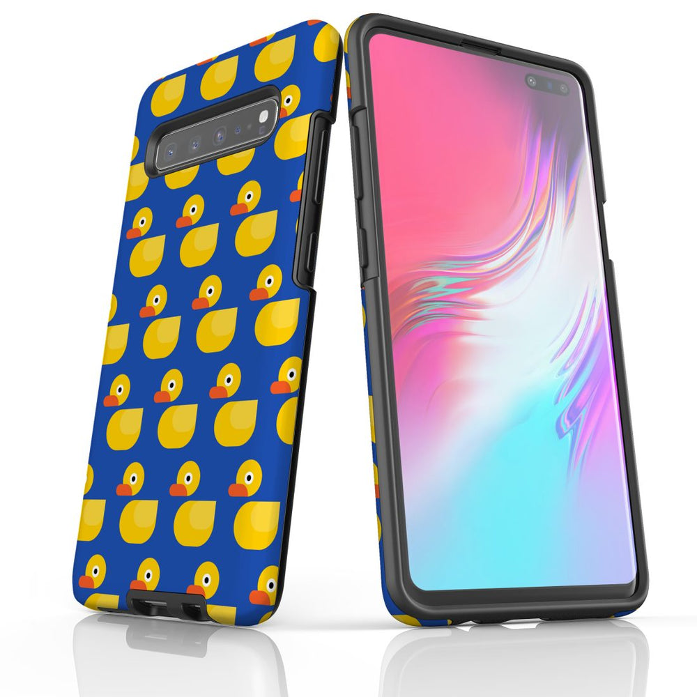 For Samsung Galaxy S10 5G Protective Case, Yellow Duckies Pattern