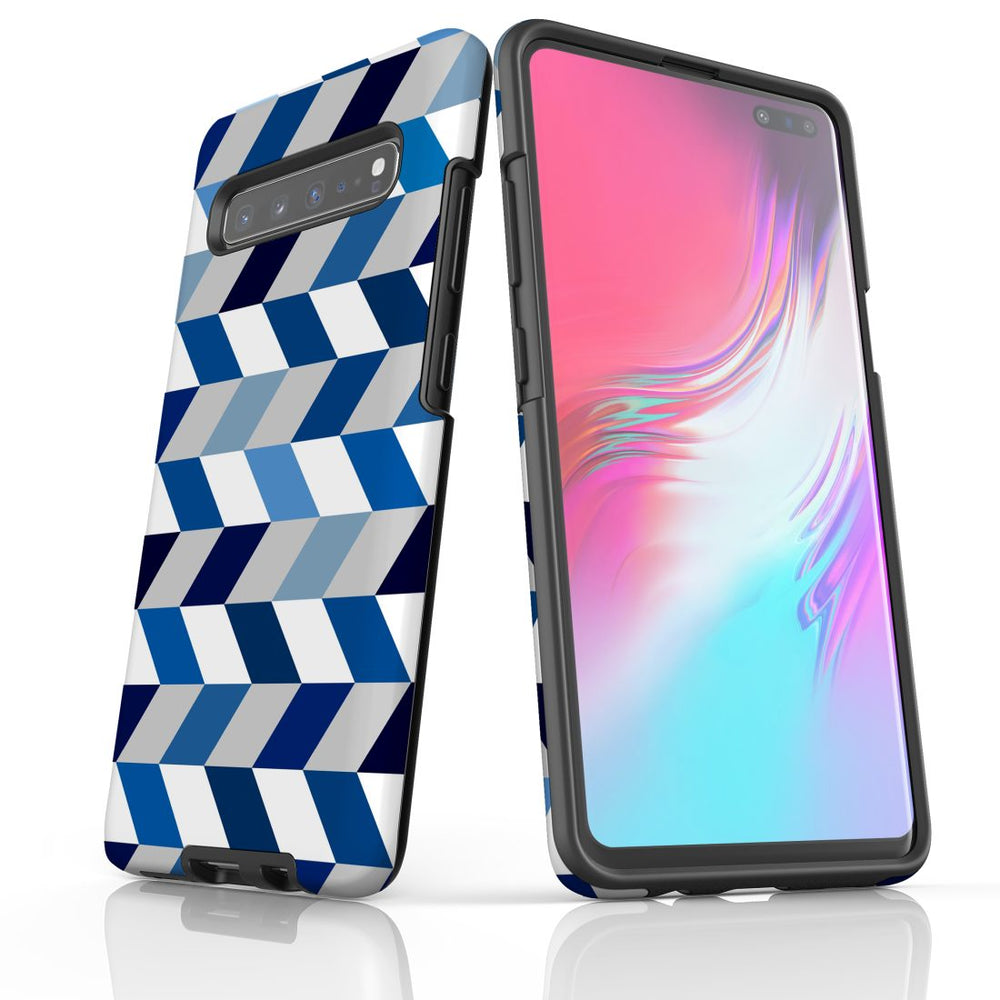For Samsung Galaxy S10 5G Protective Case, Zigzag Chevron Pattern