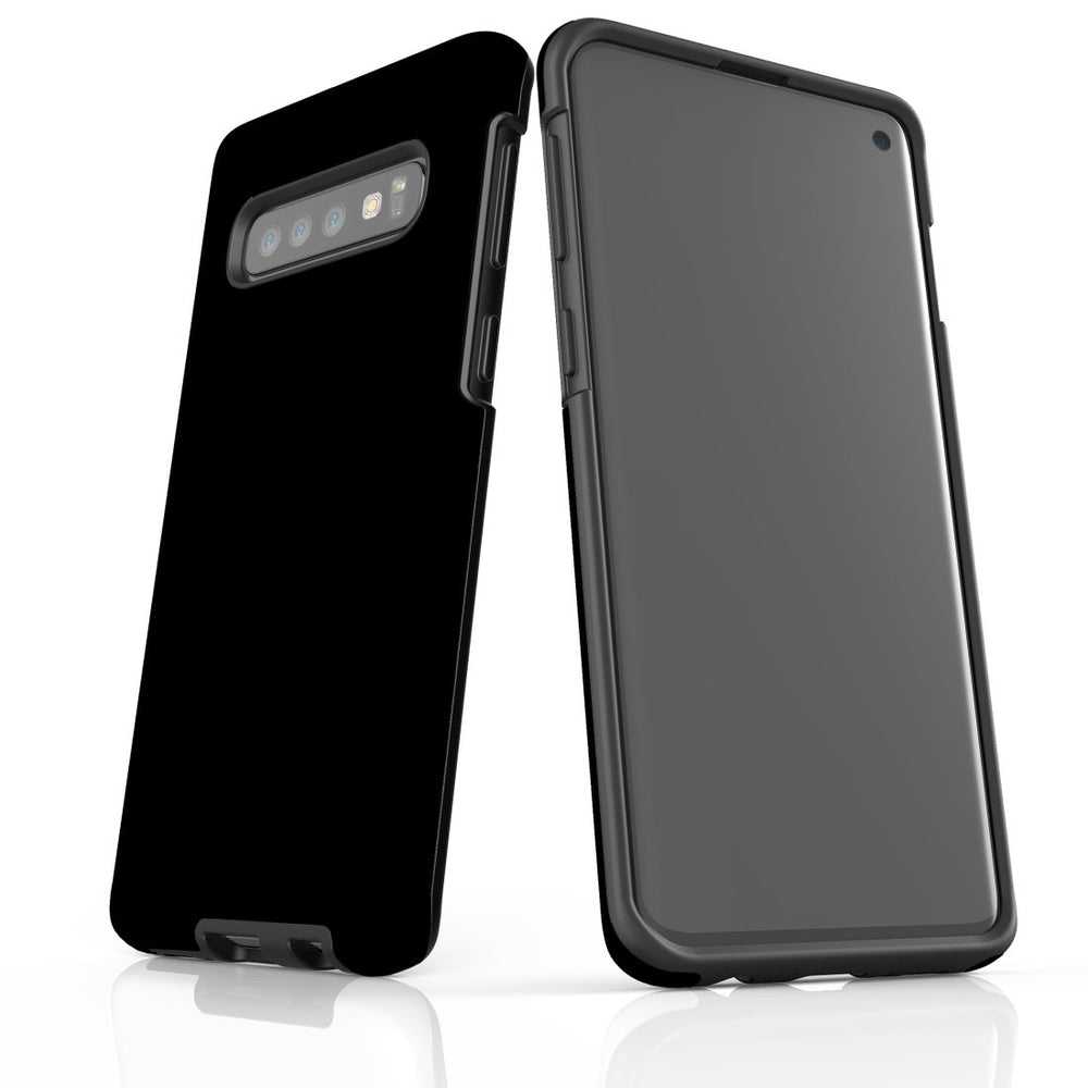 Samsung Galaxy S10 Case, Armour Tough Protective Cover, Black