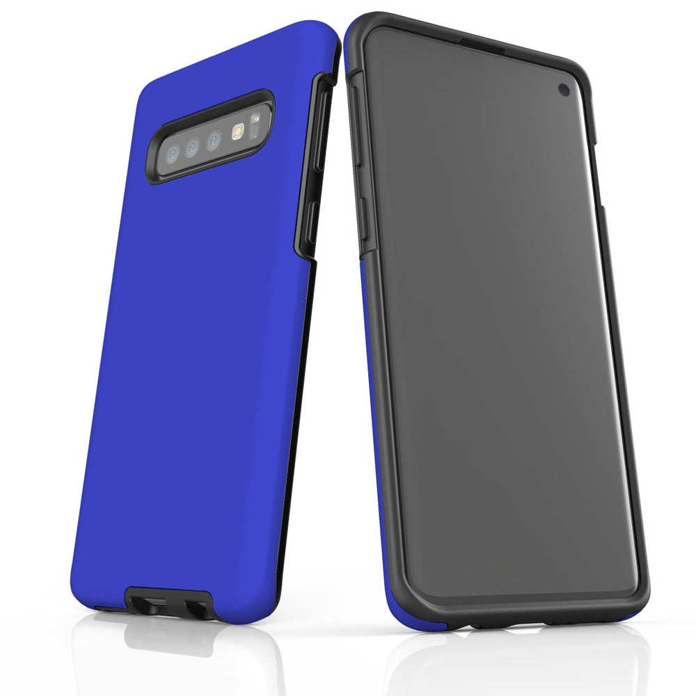 Samsung Galaxy S10 Case, Armour Tough Protective Cover, Blue