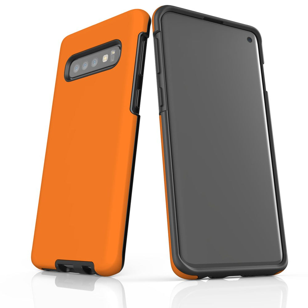 Samsung Galaxy S10 Case, Armour Tough Protective Cover, Orange