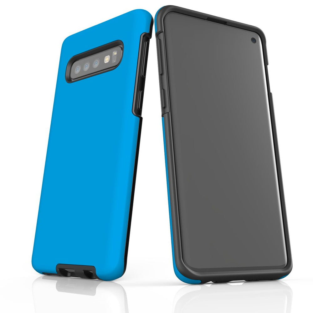 Samsung Galaxy S10 Case, Armour Tough Protective Cover, Turquoise
