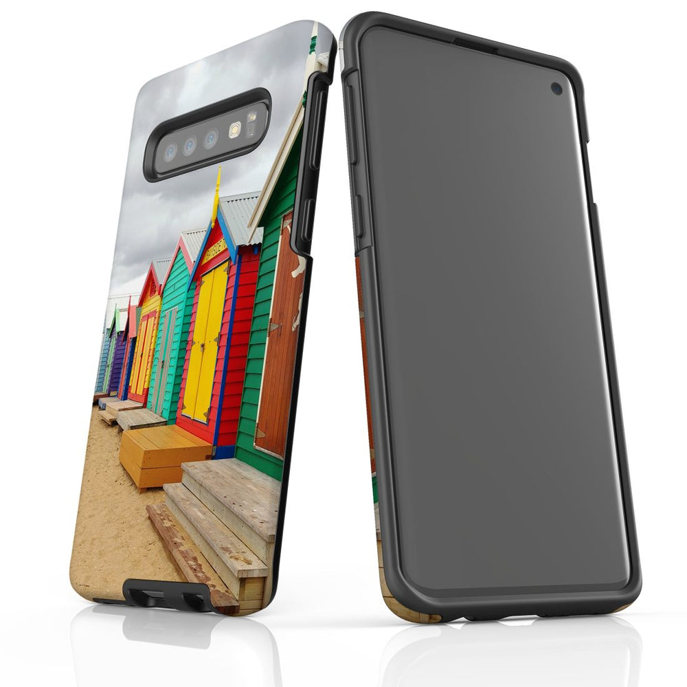 Samsung Galaxy S10 Case Protective Cover, Brighton Bathing Boxes
