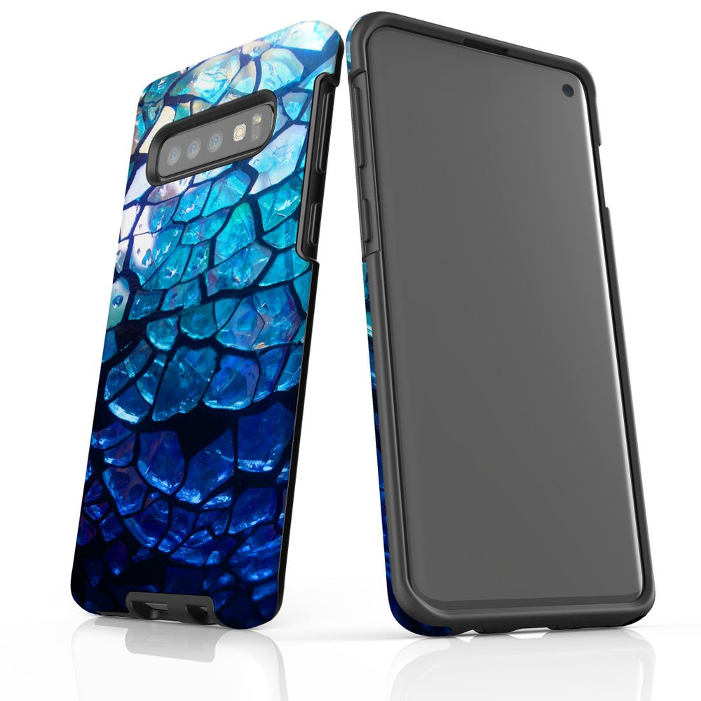 Samsung Galaxy S10 Case Protective Cover, Blue Mirror