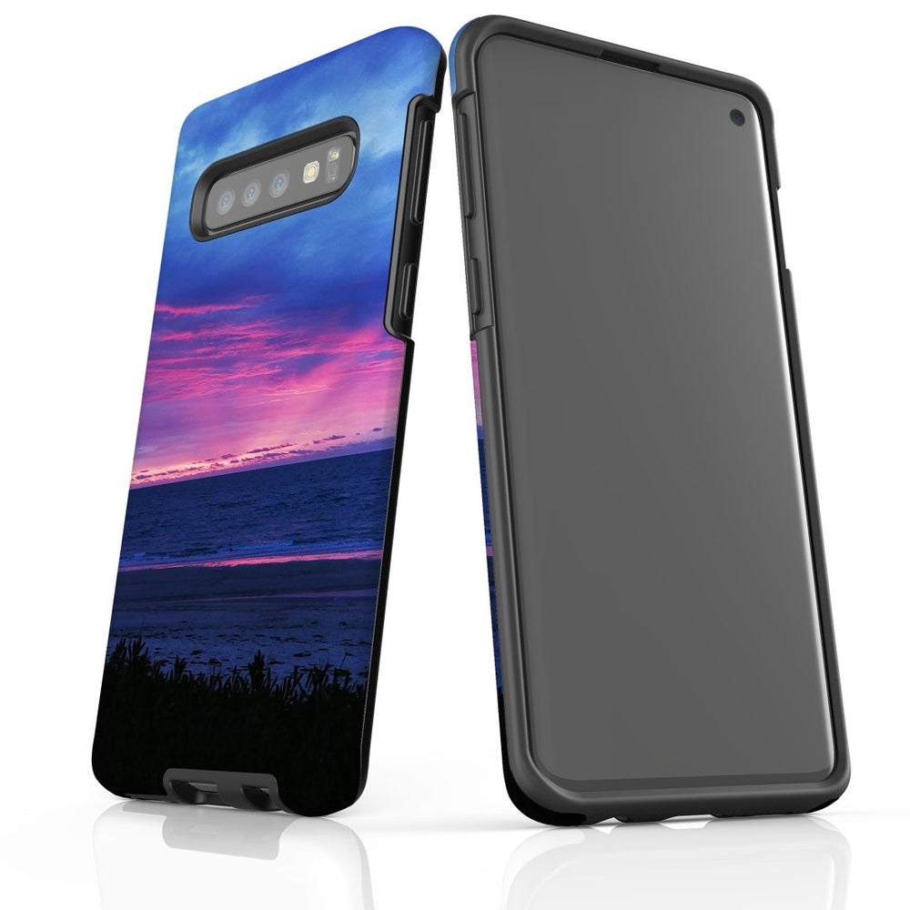 Samsung Galaxy S10 Case Protective Cover, Sunset at the Beach