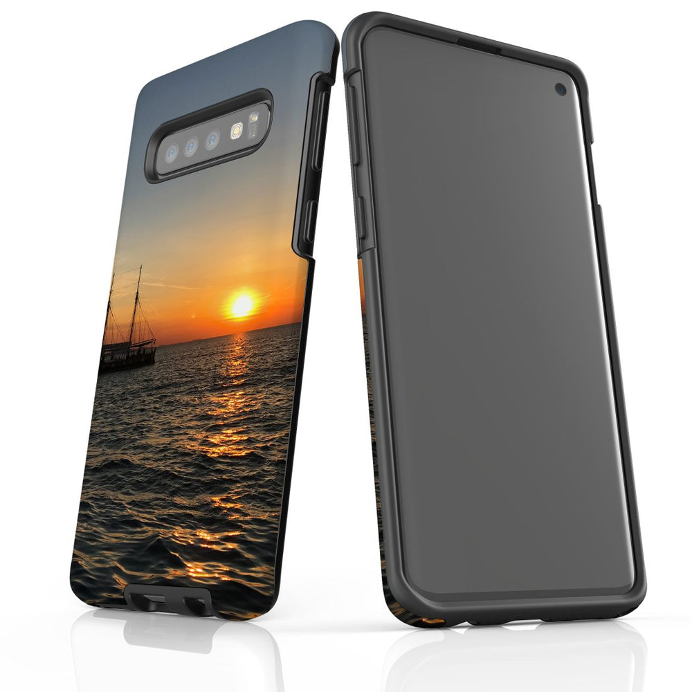 Samsung Galaxy S10 Case Protective Cover, Sailing Sunset