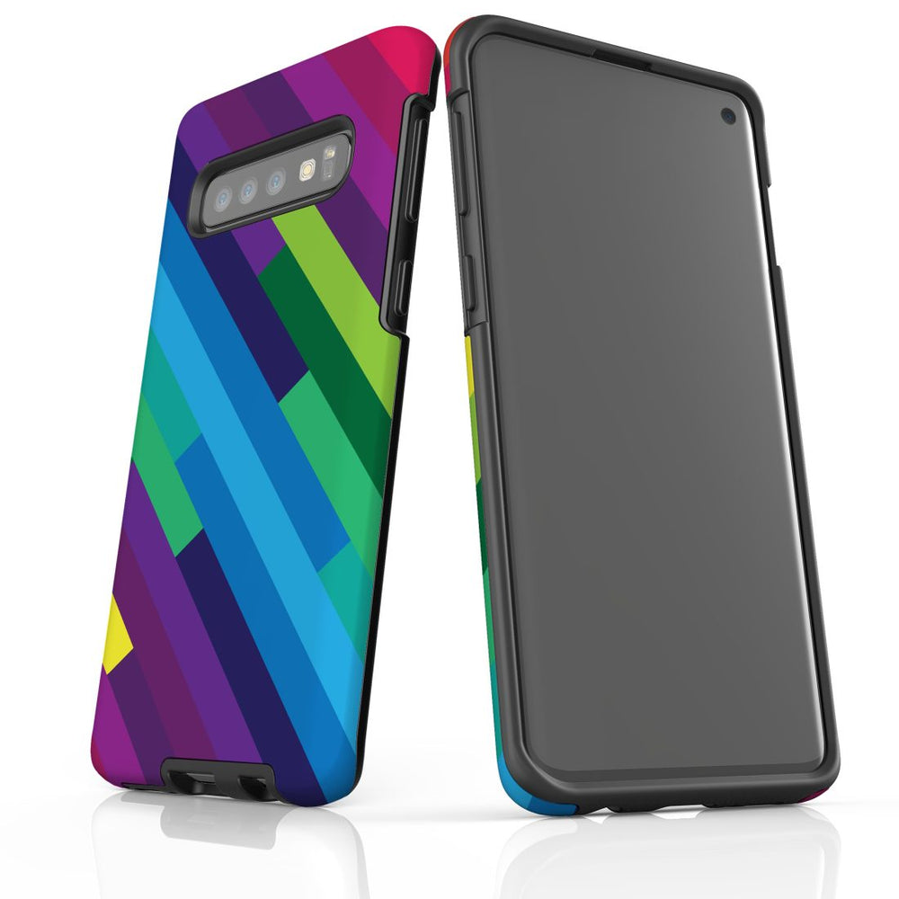 For Samsung Galaxy S10 Protective Case, Rainbow Pattern