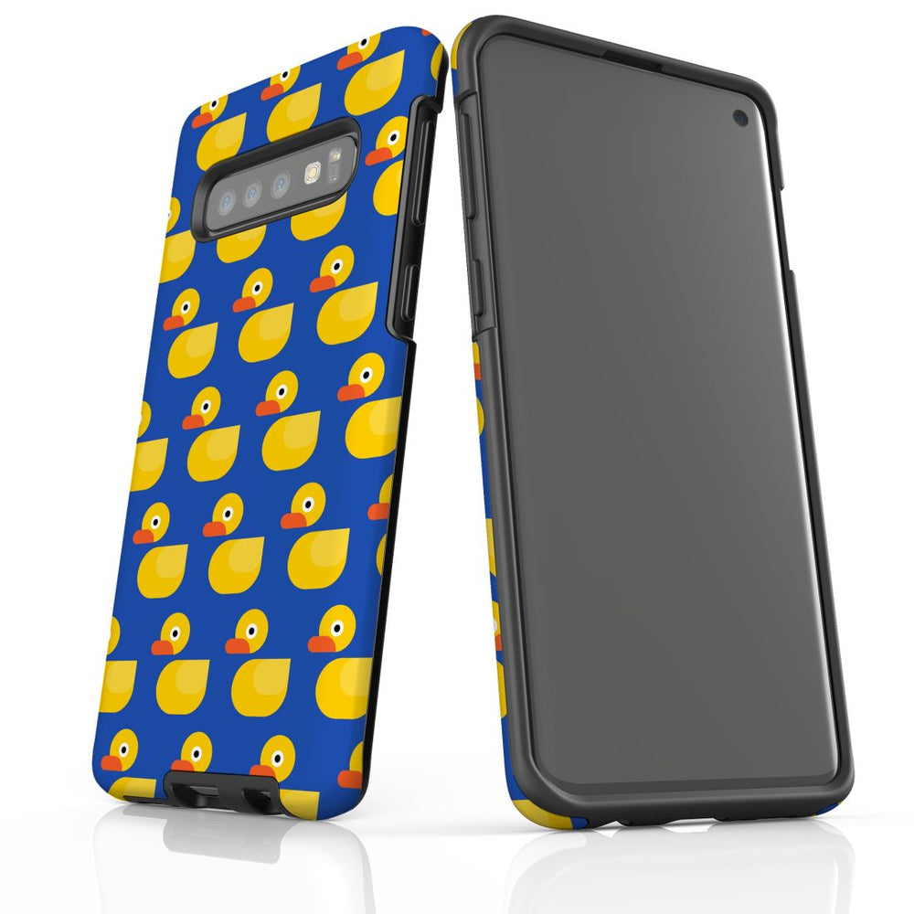 For Samsung Galaxy S10 Protective Case, Yellow Duckies Pattern