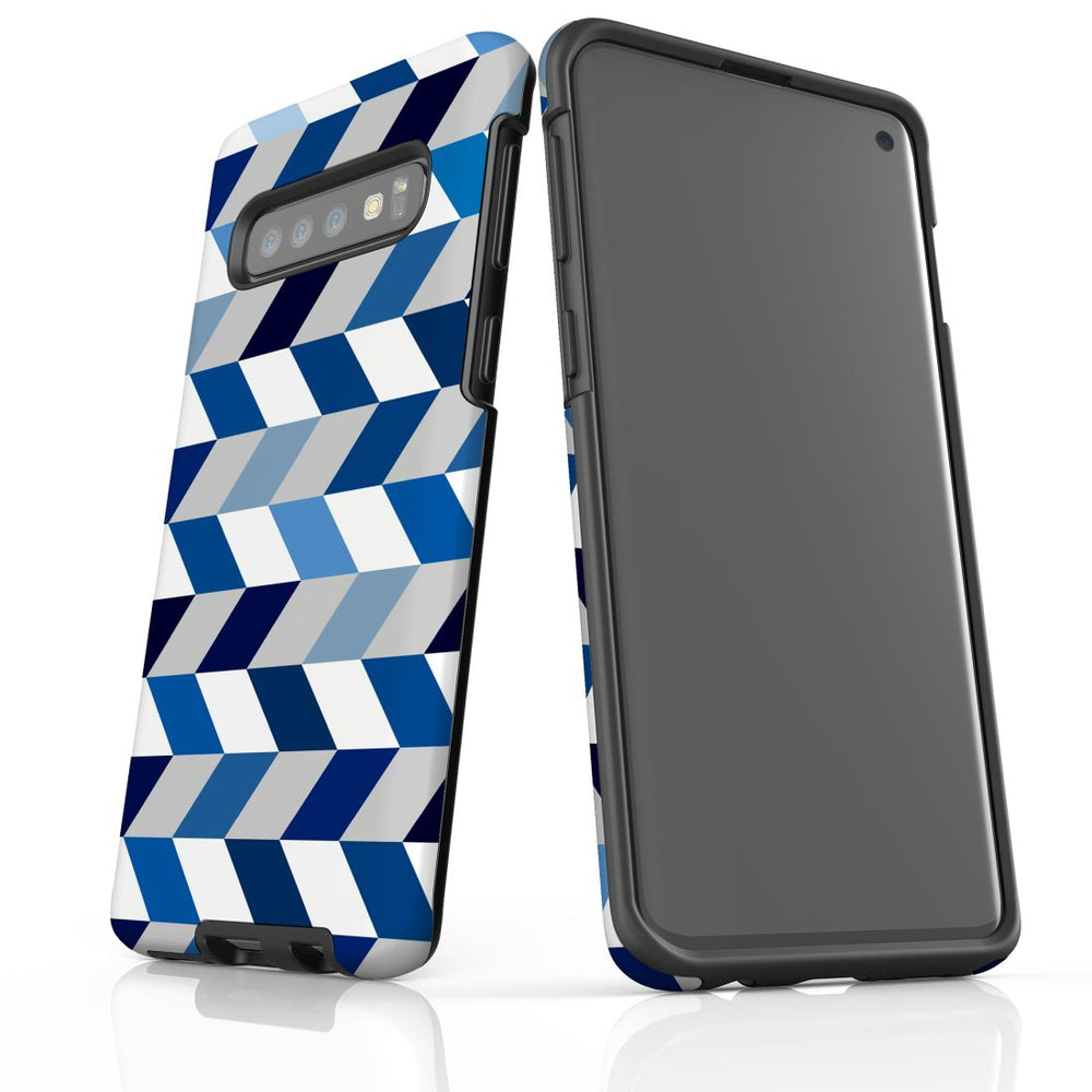 For Samsung Galaxy S10 Protective Case, Zigzag Chevron Pattern