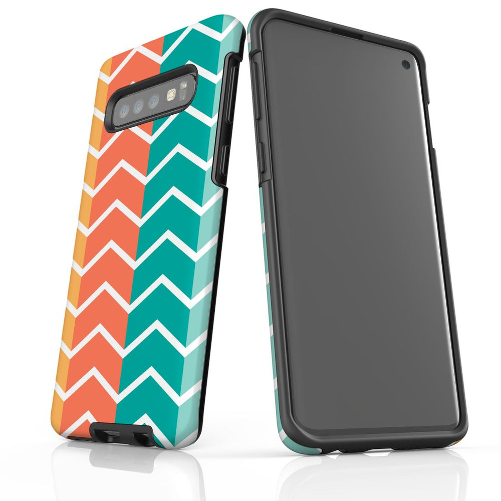For Samsung Galaxy S10 Protective Case, Zigzag Colorful Pattern
