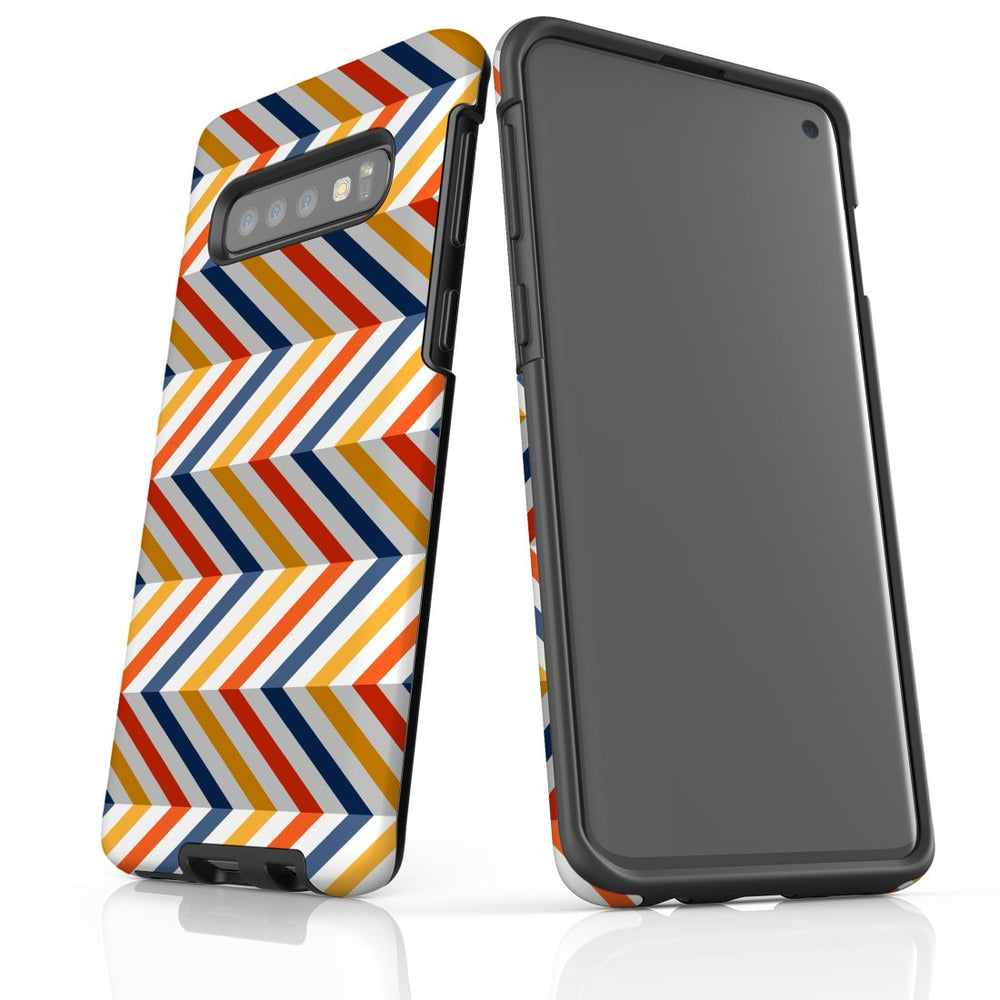 For Samsung Galaxy S10 Protective Case, Zigzag Left Right Colorful Pattern