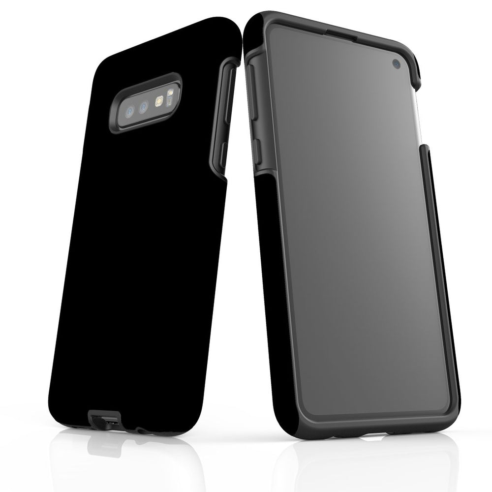 Samsung Galaxy S10e Case, Armour Tough Protective Cover, Black