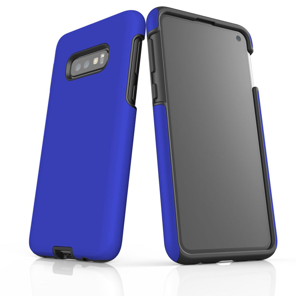 Samsung Galaxy S10e Case, Armour Tough Protective Cover, Blue
