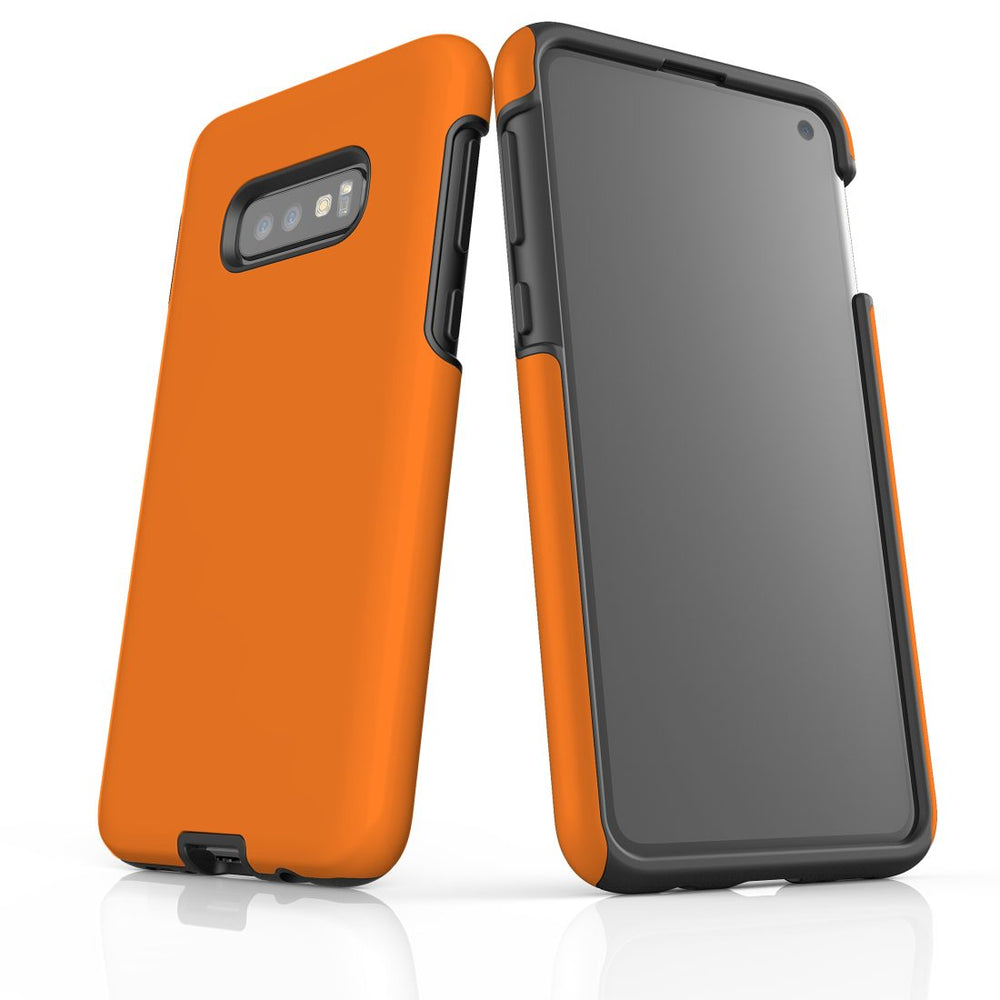 Samsung Galaxy S10e Case, Armour Tough Protective Cover, Orange