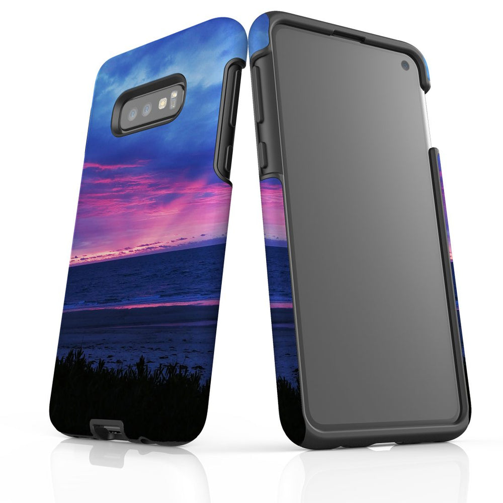 Samsung Galaxy S10e Case Protective Cover, Sunset at the Beach