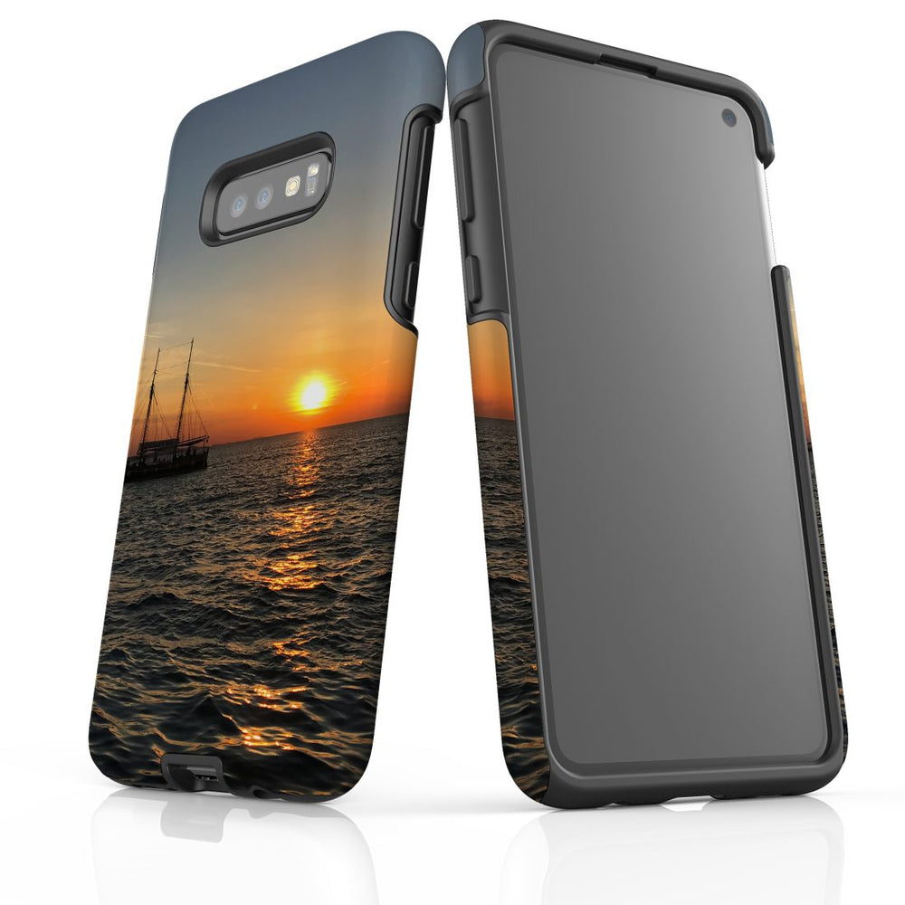 Samsung Galaxy S10e Case Protective Cover, Sailing Sunset