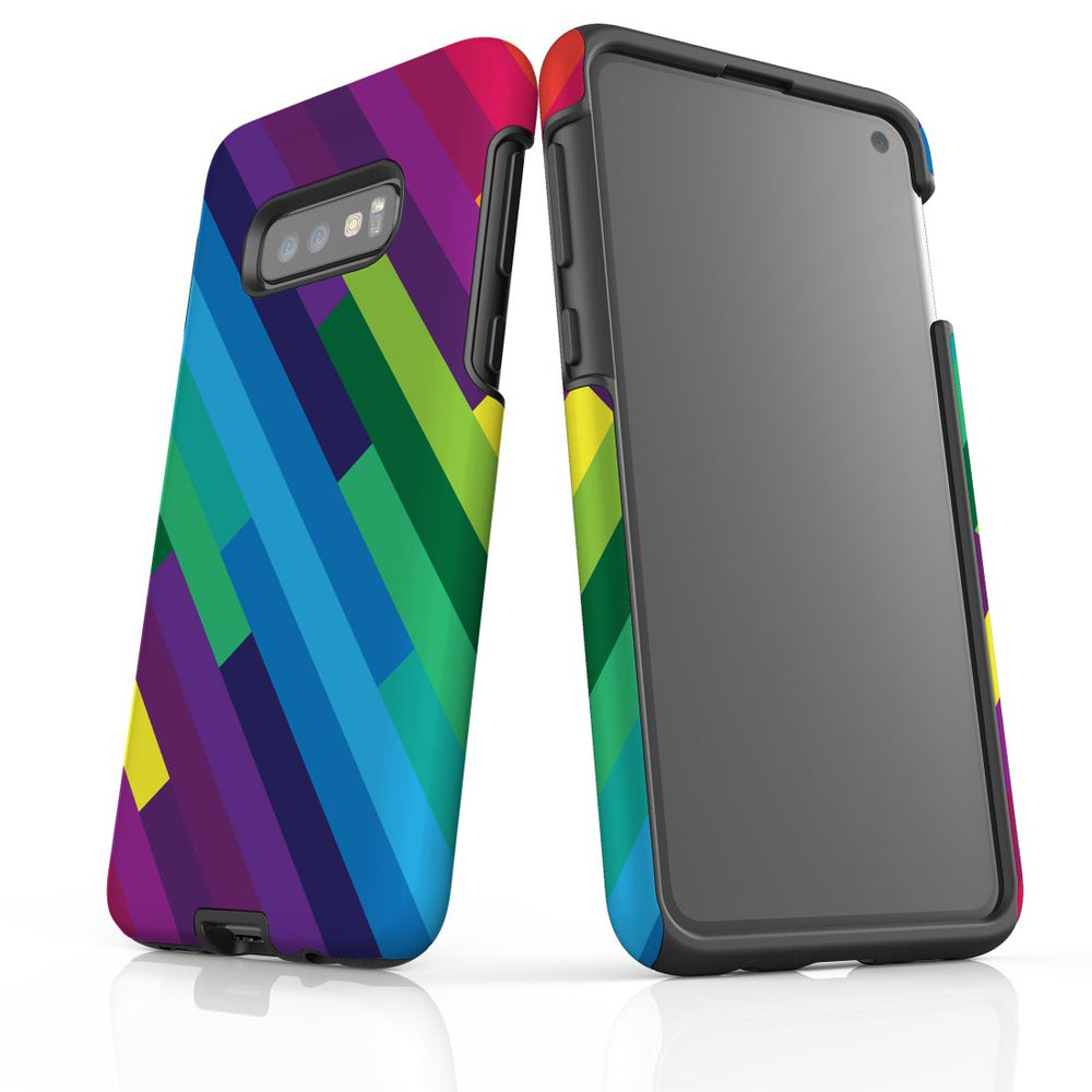 For Samsung Galaxy S10e Protective Case, Rainbow Pattern