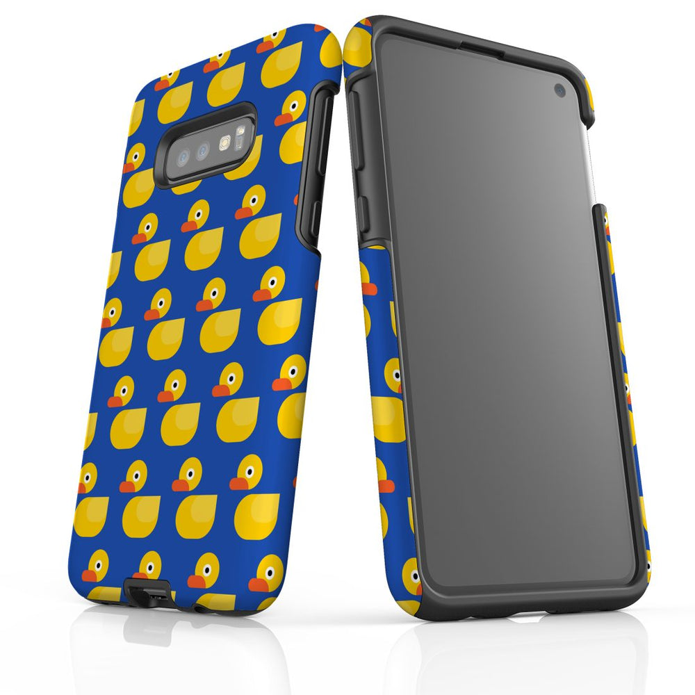 For Samsung Galaxy S10e Protective Case, Yellow Duckies Pattern