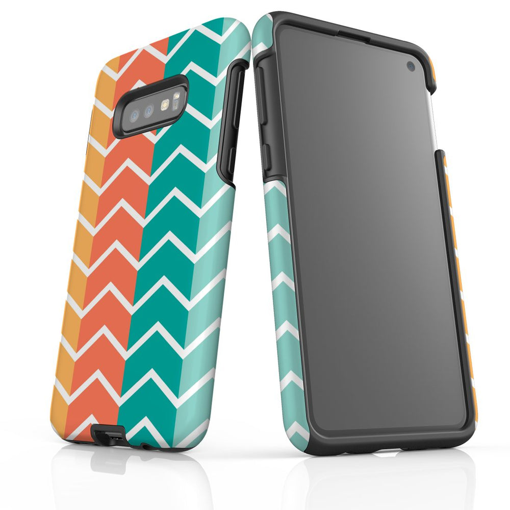 For Samsung Galaxy S10e Protective Case, Zigzag Colorful Pattern