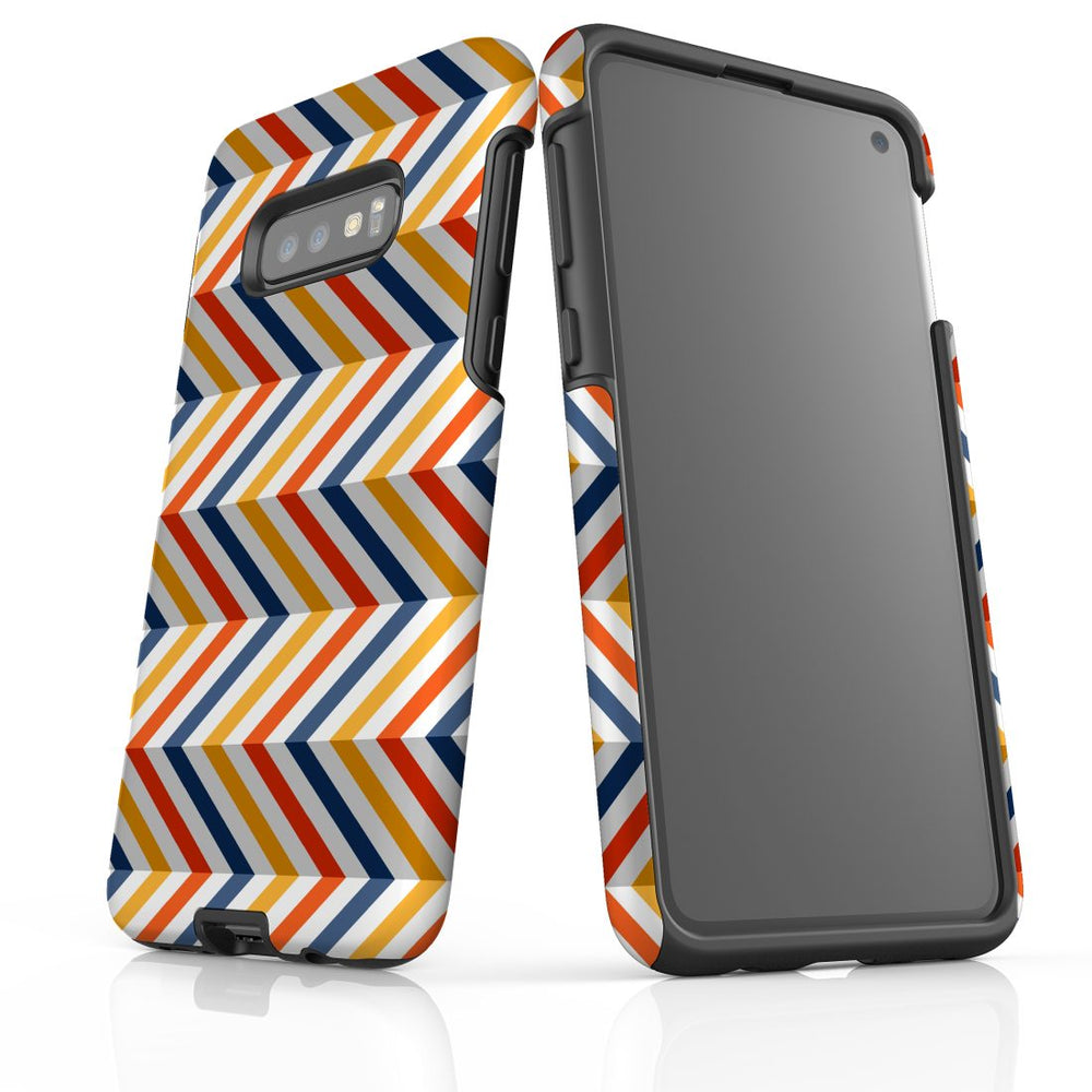 For Samsung Galaxy S10e Protective Case, Zigzag Left Right Colorful Pattern