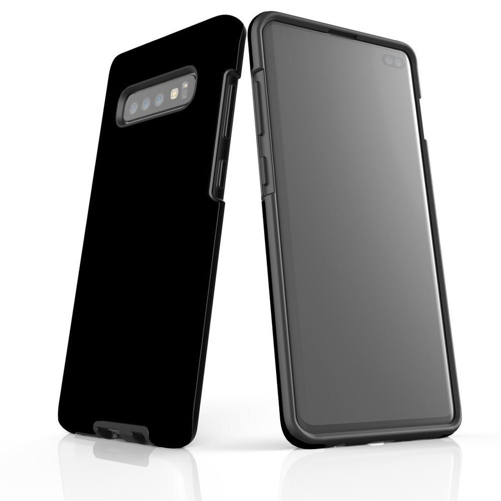 Samsung Galaxy S10+ Plus Case, Armour Tough Protective Cover, Black