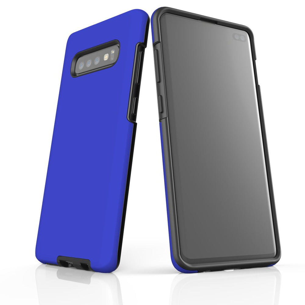 Samsung Galaxy S10+ Plus Case, Armour Tough Protective Cover, Blue