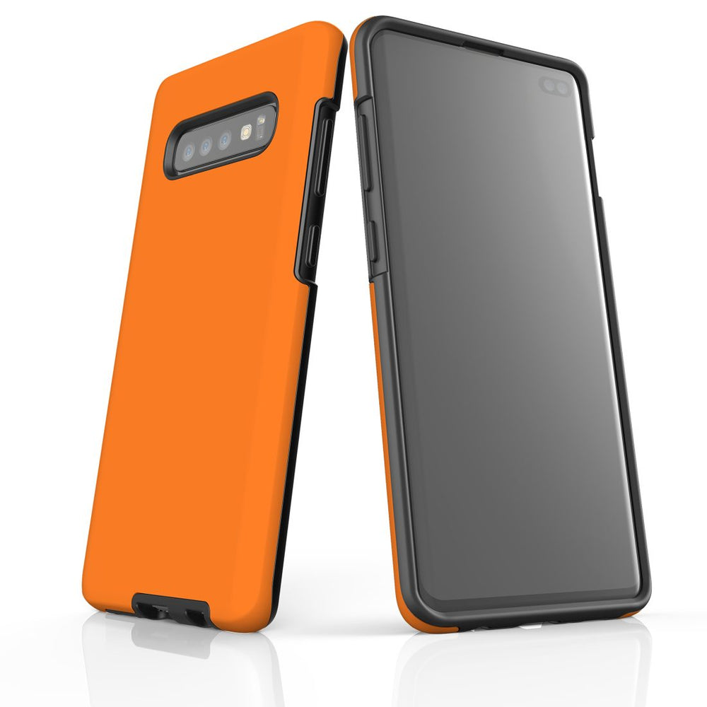 Samsung Galaxy S10+ Plus Case, Armour Tough Protective Cover, Orange