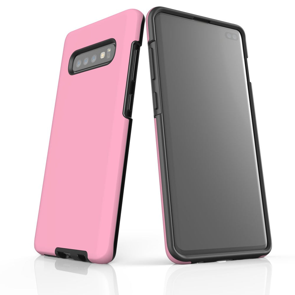 Samsung Galaxy S10+ Plus Case, Armour Tough Protective Cover, Pink