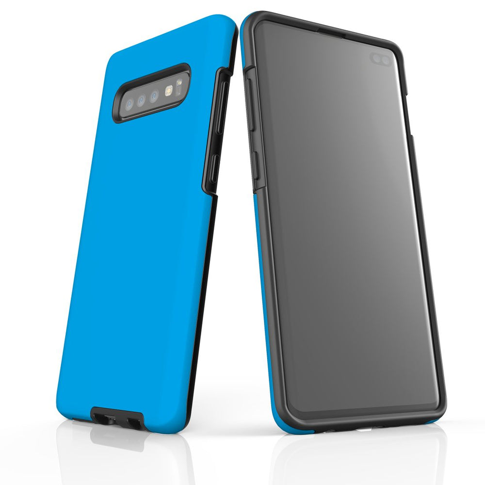 Samsung Galaxy S10+ Plus Case, Armour Tough Protective Cover, Turquoise