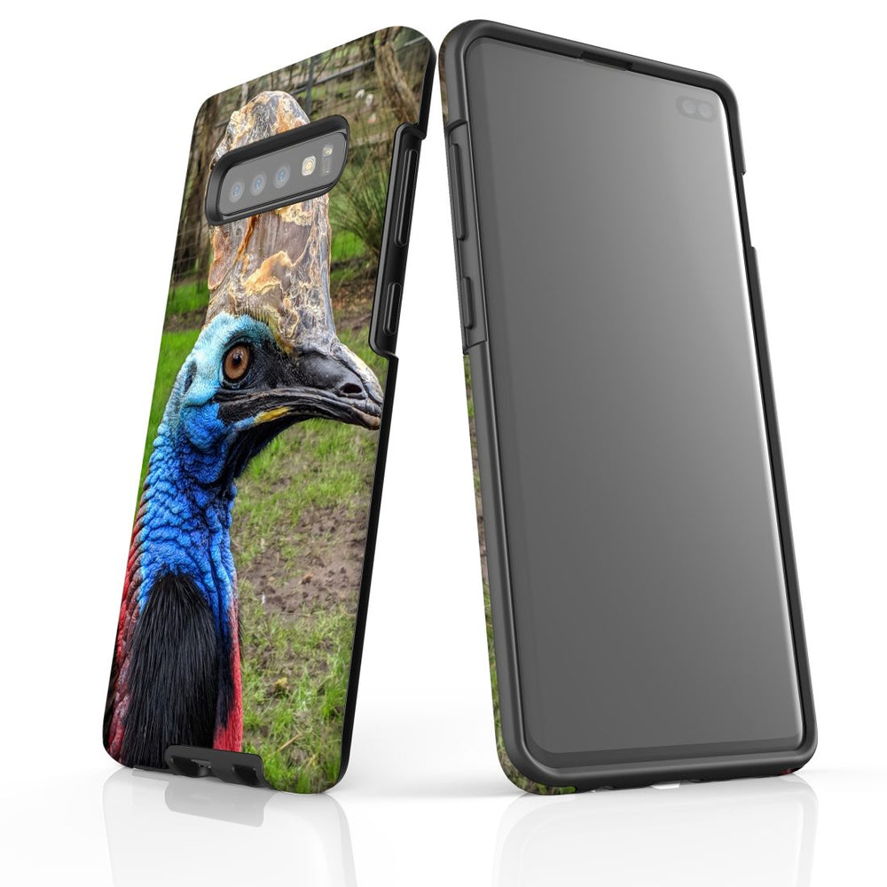 Samsung Galaxy S10+ Plus Case Protective Cover, Cassowary