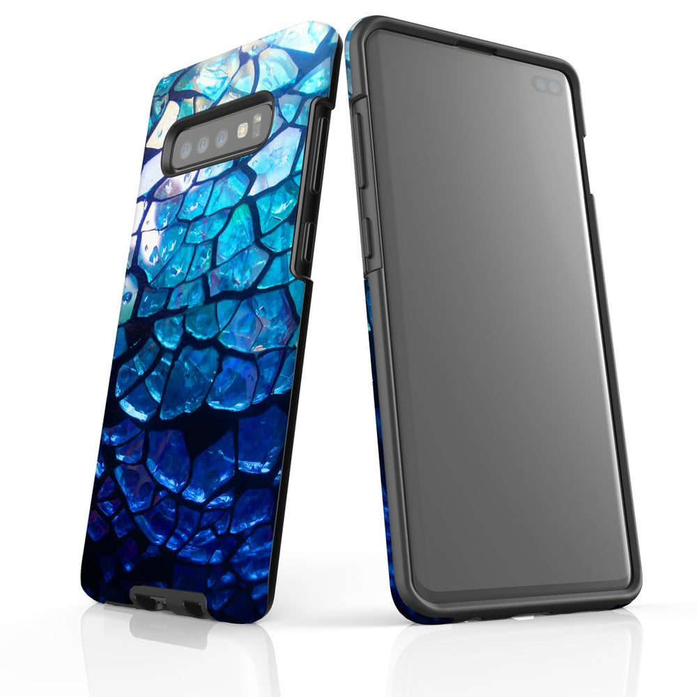 Samsung Galaxy S10+ Plus Case Protective Cover, Blue Mirror