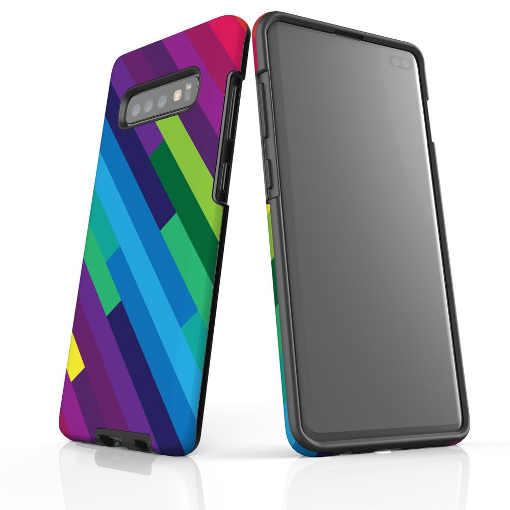For Samsung Galaxy S10 Plus Protective Case, Rainbow Pattern