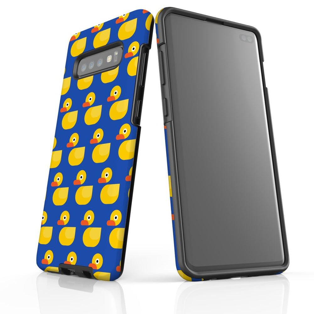 For Samsung Galaxy S10 Plus Protective Case, Yellow Duckies Pattern