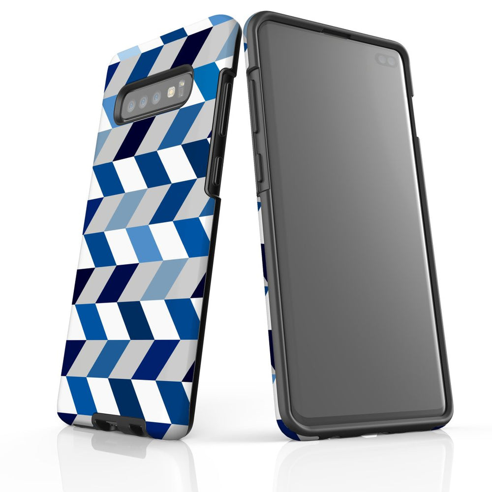 For Samsung Galaxy S10 Plus Protective Case, Zigzag Chevron Pattern
