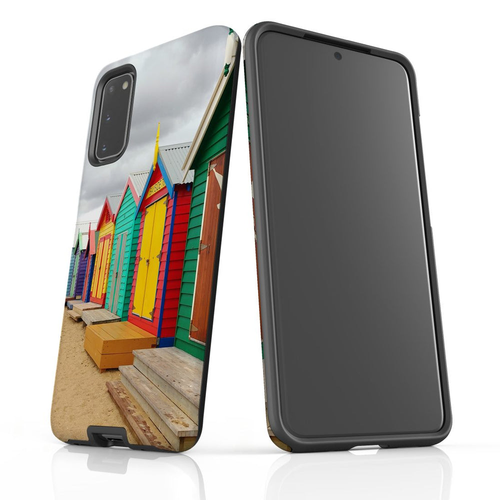Samsung Galaxy S20 Case Protective Cover, Brighton Bathing Boxes