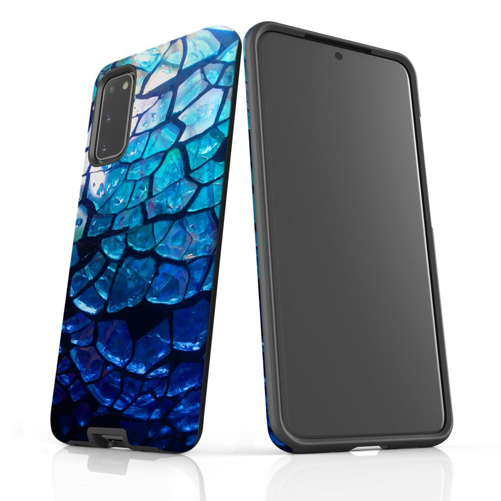 Samsung Galaxy S20 Case Protective Cover, Blue Mirror