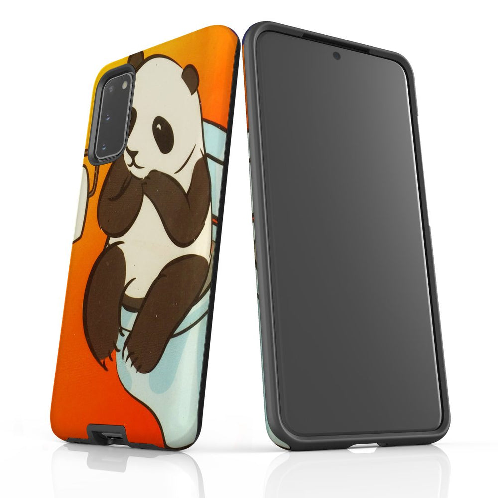 Samsung Galaxy S20 Case Protective Cover, Panda's Toilet