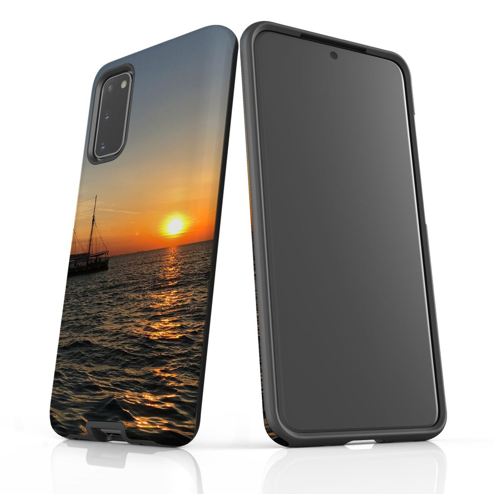 Samsung Galaxy S20 Case Protective Cover, Sailing Sunset