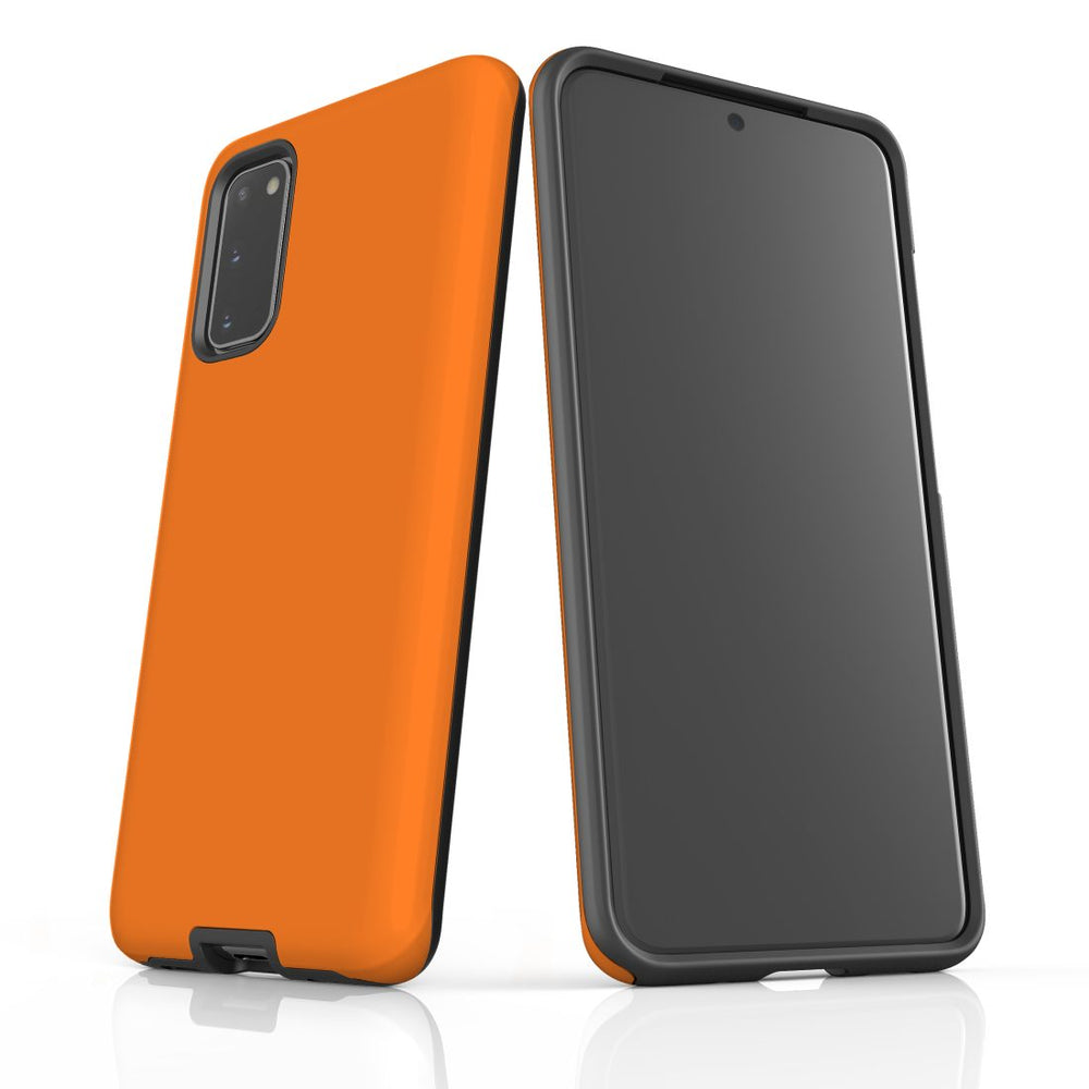 Samsung Galaxy S20 Case, Armour Tough Protective Cover, Orange